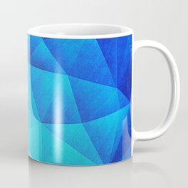 Abstract Polygon Multi Color Cubizm Painting in ice blue Coffee Mug