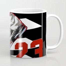 aj5 FIRE RED ShoeBox illustration Coffee Mug