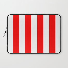 Australian Flag Red and White Wide Vertical Beach Stripe Laptop Sleeve