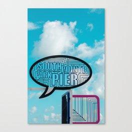 South Pointe Park Pier, South Beach Miami Canvas Print