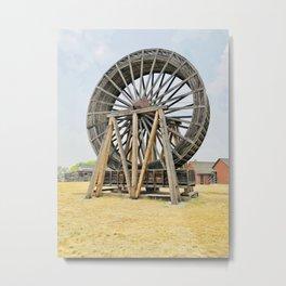 Fort Steel waterwheel Metal Print
