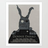 donnie darko Art Prints featuring Donnie Darko Poster by beware1984