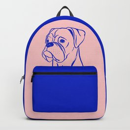 Boxer (Pink and Blue) Backpack