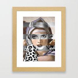 Michelangelo's Sibilla Delfica & Bette Davis Framed Art Print