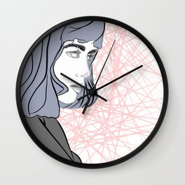 Beauty in Bloom: Annita Wall Clock