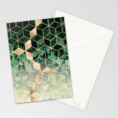 Leaves And Cubes Stationery Cards