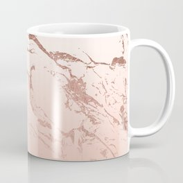 Pink blush white ombre gradient rose gold marble pattern Coffee Mug
