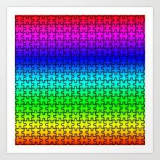 Color Puzzle Art Print