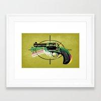 gun Framed Art Prints featuring gun by mark ashkenazi