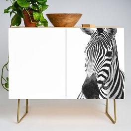 Black and white zebra illustration Credenza