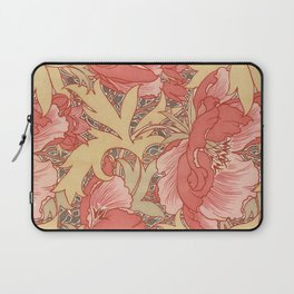 William Morris Poppies Floral Art Nouveau Pattern Laptop Sleeve