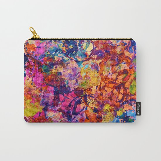 EVERYBODY'S COASTER- Bold Abstract Acrylic Painting Wine Glass Coaster Wow Autumn Home Decor Gift  Carry-All Pouch