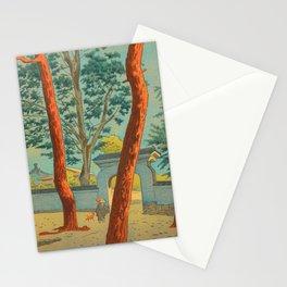 Asano Takeji Japanese Woodblock Print Vintage Mid Century Art Garden Gates Stationery Cards
