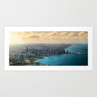 Aerial view of Chicago Art Print