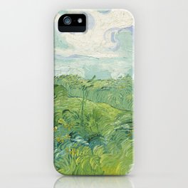 Vincent van Gogh Green Wheat Fields, Auvers 1890 Painting iPhone Case