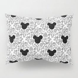Magic Doodle - happy, magic, kingdom, neverland, wonderland, black and white Pillow Sham