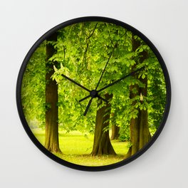 One day in the park - tranquil mood - #society6 #buyart Wall Clock