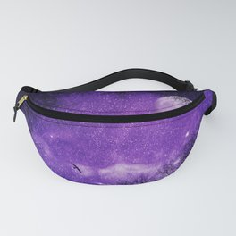Nightsky with Full Moon in Ultra Violet Fanny Pack