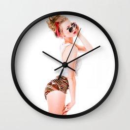 Modern Beach Pinup Wall Clock