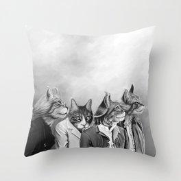 Beatle Cats Throw Pillow
