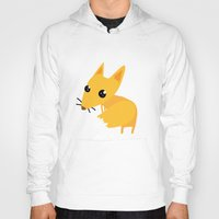 kitsune Hoodies featuring kitsune by kulu kulu