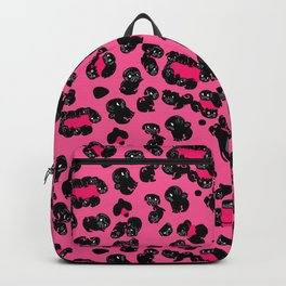 Leopard Pugs in Pink Backpack