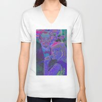 lost in translation V-neck T-shirts featuring Lost In Translation - Glitch by Esteban Corte