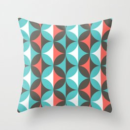 Circles in bloom Throw Pillow