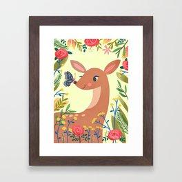 Tawny Fawn Framed Art Print