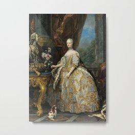 Marie Leszczinska Queen of France by Carle Van Loo, 1747 Metal Print