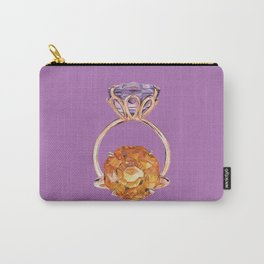 Circles on Purple Carry-All Pouch