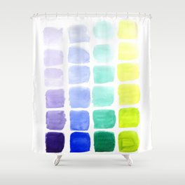 Squared Gradients Shower Curtain