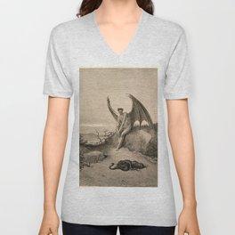 Gustave Doré - The meeting Unisex V-Neck