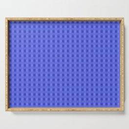Retro Blue Squares Serving Tray