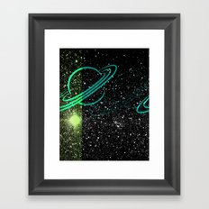 Flash Star Framed Art Print