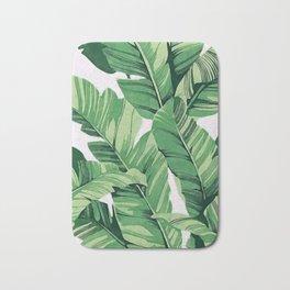 Tropical banana leaves V Bath Mat