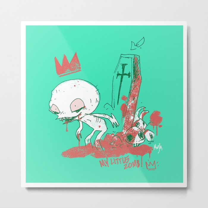 My little zombie - green version Metal Print