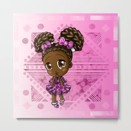 Cute African American Girl Metal Print