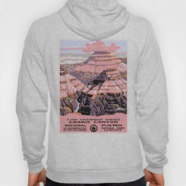 1938 Grand Canyon National Park Travel Poster Hoody