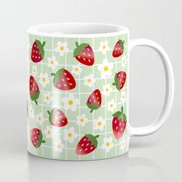Sweet Strawberries - light green Coffee Mug