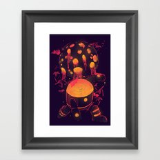Super Heroic Pose Framed Art Print