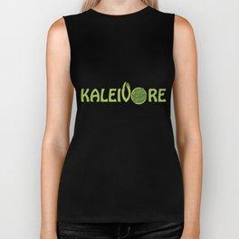 Kaleivore Kale Art for Vegans, Vegetarians Dark Biker Tank