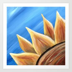 Fall Sunflower Art Print
