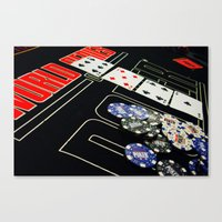 poker Canvas Prints featuring poker by yahtz designs