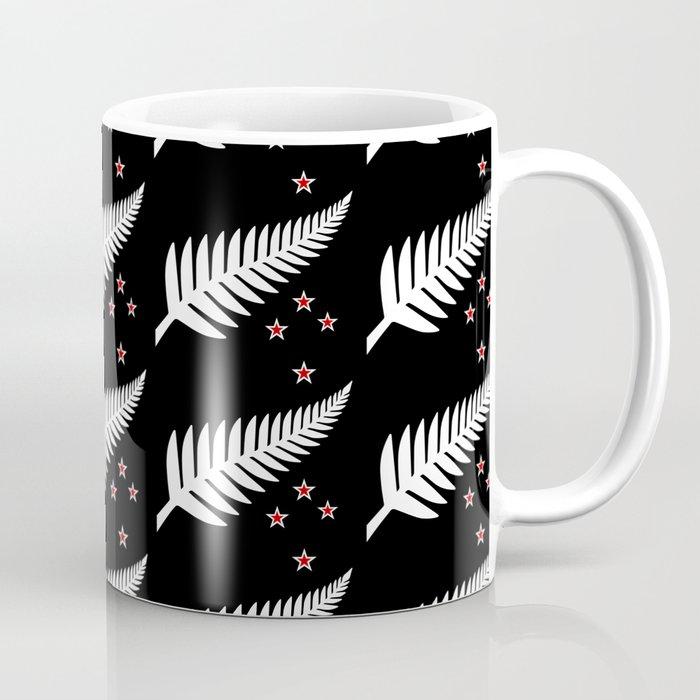 0c3b389ed67 New Zealand Silver Fern Flag Black Pattern Coffee Mug by ...