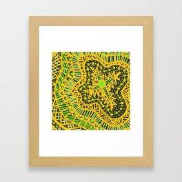 Doodle 16 Yellow Framed Art Print