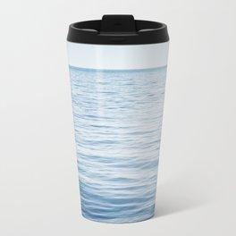 Blue Ocean Seascape, Dark Blue Sea Landscape Photography, Ocean Horizon Travel Mug
