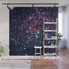 Galaxy Stars : Subtle Purple Mauve Pink Teal Wall Mural