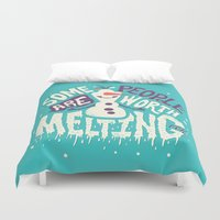 risa rodil Duvet Covers featuring Worth melting for by Risa Rodil