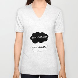 The fault in our Mockingjay. Unisex V-Neck